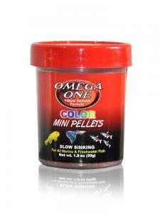 Omega One 50g color mini pellets